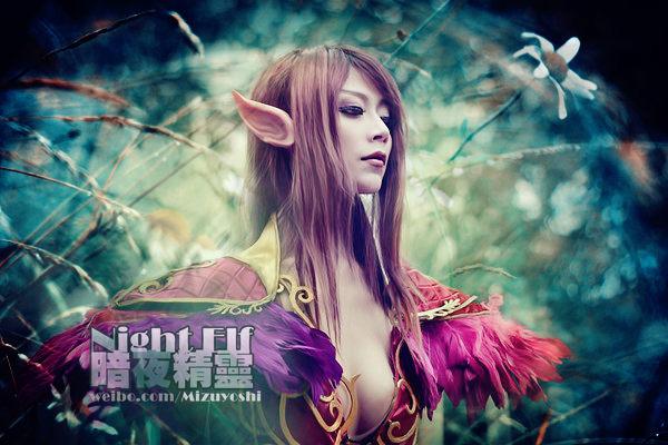 Mizuyoshi gợi cảm với cosplay Night Elf - Ảnh 9